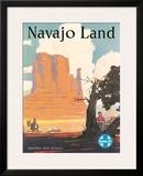 Santa Fe Railroad: Navajo Land, c.1954 Framed Giclee Print