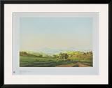 Bohemian Landscape with the Mount Milleschauer Posters by Caspar David Friedrich