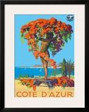 Cote D'Azur Statue PLM c.1935 Framed Giclee Print by Julien Lacaze