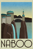 Naboo Retro Travel Plastic Sign Wall Sign