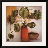 Olive Bowl and Vase Art by Margaret Hughlock