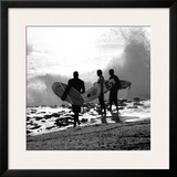 Surfers Framed Giclee Print by Harold Silverman
