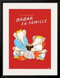 Babar en Famille Prints by Jean de Brunhoff