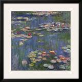 Water Lilies (Nymphéas), c.1916 Art by Claude Monet