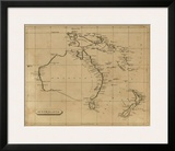 Australasia, c.1812 Prints by Aaron Arrowsmith