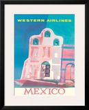 Western Airlines: Mexico, c.1959 Framed Giclee Print by Will Grant