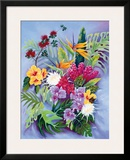 Hawaiian Island Floral Framed Giclee Print by Warren Rapozo