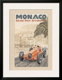 Grand Prix Automobile 1937 Print by Bruno Pozzo