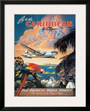 Pan American: Fly to the Caribbean by Clipper, c.1940s Framed Giclee Print by M. Von Arenburg