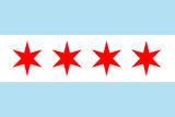Chicago City Flag Plastic Sign Znaki plastikowe
