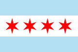 Chicago City Flag Plastic Sign Plastic Sign