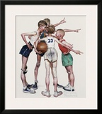 Four Sporting Boys, Oh Yeah Framed Giclee Print by Norman Rockwell