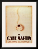 Le Cafe Martin Posters by Charles Loupot