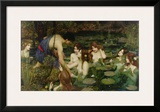 Hylas and the Nymphs Framed Giclee Print by John William Waterhouse
