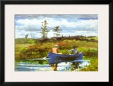 Blue Boat Posters by Winslow Homer