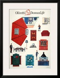 Olivetti Domus Life Print by  Susay