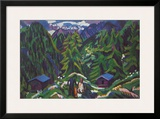Mountain Landscape Posters by Ernst Ludwig Kirchner