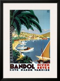 Bandol Hiver Ete Prints by Roger Broders