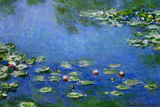 Claude Monet Water Lilies Nympheas Plastic Sign Plastic Sign