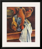 Still Life (Stone Jug, White Serviette and Fruit) Posters by Andre Derain