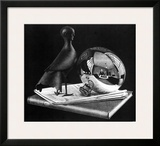 Still Life with Reflecting Sphere Prints by M. C. Escher