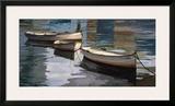 El Descanso de las Tres Barcas Poster by Poch Romeu