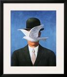 L'Homme au Chapeau Melon, c.1964 Prints by Rene Magritte