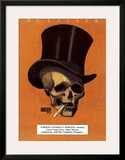 Skull with Cigarette Poster by M. C. Escher