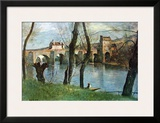 The Bridge of Mantes Art by Jean-Baptiste-Camille Corot