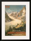 Chemin De Fer Chamonix-Montenvers Prints by  Bourgeois