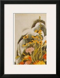 Zinnias And Daisies Print by Charles Demuth