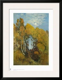 Autumn Forest in the Moon Light Poster by Eugen Bracht