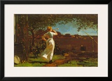 The Dinner Horn Posters by Winslow Homer