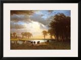 Buffalo Trail Prints by Albert Bierstadt