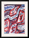 Sites aux Figurines Psycho-Sites Prints by Jean Dubuffet