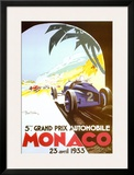 5th Grand Prix Automobile, Monaco, 1933 Prints by Geo Ham
