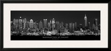 Manhattan at Night, New York City Prints by Richard Sisk