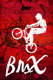 BMX Biking Sketch Sports Plastic Sign Plastic Sign