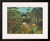Horse and Jaguar Prints by Henri Rousseau