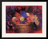 Tropical Fruit Basket Prints by Wendy Hoile