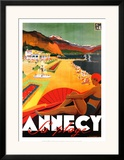Annecy La Plage Posters by Robert Falcucci