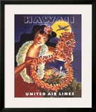 Hawaii, United Air Lines Posters