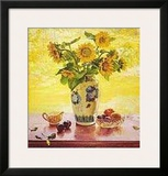 Sunflowers Prints by Del Gish
