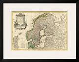 Suede, Danemarck et Norwege, c.1762 Poster by Jean Janvier