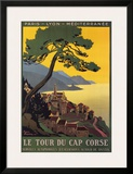 Tour Du Cap Corse Art by Roger Broders
