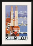 Zurich Metropolis Posters by Otto Baumberger
