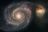 Out of This Whirl: the Whirlpool Galaxy M51 and Companion Galaxy Space Plastic Sign Plastic Sign