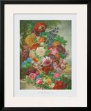 Flowers in a Landscape Print by Joseph Nigg