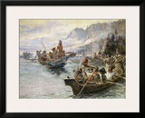 Lewis and Clark on the Lower Columbia Prints by Charles Marion Russell