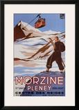 Morzine Print by Bernard Villemot